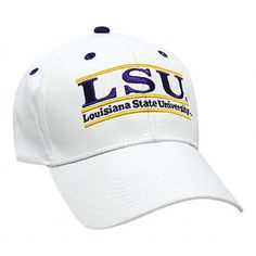sports shoes f3d74 ebb9e NCAA - LSU Tigers  The Game  Classic White Bar Adjustable Hat  (00672841168906)