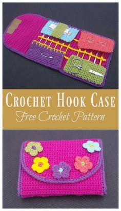 Crochet Hook Case Free Crochet Pattern #freecrochetpatterns #crochet #freepattern