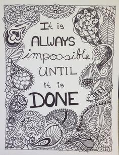 Motivational Doodle Art - Impossible Until Done