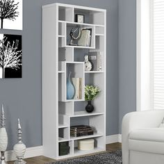 "Monarch Specialties Inc. 72"" Standard Bookcase & Reviews | Wayfair"