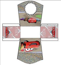 Cars: Free Printable Party Boxes