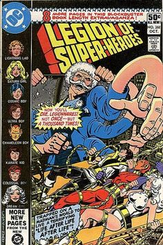 Legion of Super-Heroes Vol 2 268, bound, tied, secured, men, cover art, comic books