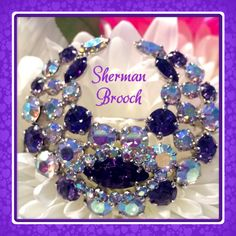 Stunning Sherman brooch !