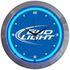Bud Light Neon Clock New Quartz Wall Clock Beer Neonetics