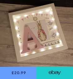Photo & Picture Frames Home, Furniture & DIY #ebay Baby Picture Frames, Baby Frame, Baby Box Frame Ideas, Box Frame Ideas Diy Crafts, Christening Frames, Christening Gifts, Newborn Shadow Box, Diy Shadow Box, Baby Shadow Boxes