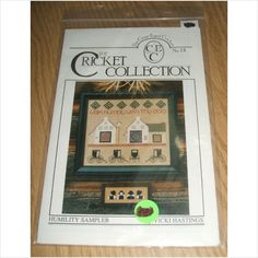 Cross-Eyed Cricket Pattern No 18 Humility Sampler Cross-Stitch by Vicki Hastings  Pattern: NUMBER 18.  Brand: The Cross-Eyed Cricket.  The Cricket Collection.  Pattern Condition: New, unused and sealed in a plastic resealable zip bag.  Copyright: No year that I could find.  Discontinued and Out of Print Pattern.  Price includes Free U.S. Shipping!  $7.99.