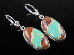Boulder Chrysoprase Sterling Silver Earrings