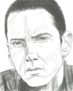 rough eminem sketch