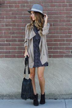 Twenties Girl Style: Checkered Dress: Look 2 - Weekend