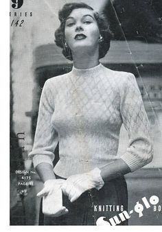 PDF 1940s knits for women entire book of patterns 8