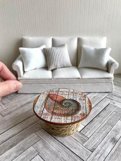 Dollhouse coffee table Miniature side table Dollhouse beach