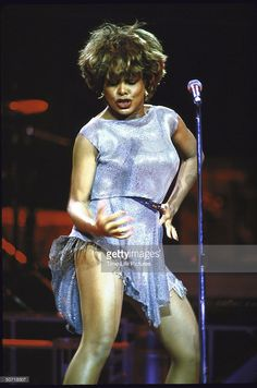 Singer Tina Turner performing.