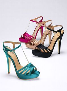 Jeweled T-strap Sandal - Colin Stuart - Victoria's Secret Love the teal one!