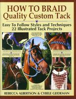 How to Braid Quality Custom Tack This is the book that started me on paracord braiding. Wonderfully written with lots of pictures and diagrams. If you have any problems, Rebecca Albertson and Cybele Geideman are fantastic in answering any of your questions. On their website you can purchase paracord, halter rope, mohair for cinches, etc. Check out the blog site for others that are doing braiding.