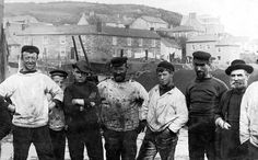 Rogueish fishing crew at Mousehole, circa 1910