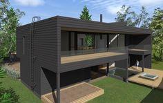 Unelmissa hirsitalo - Dekolehti.fi Comme, Deck, Interiors, Architecture, Board, Outdoor Decor, Design, Home Decor, Balcony