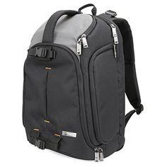 DSLR Camera Backpack Evecase DSLR Camera / 15.6 inch Laptop Travel Daypack For Mirrorless, Micro 4/3 system, High Zoom, Interchangable Lens kit, Professional Full Frame Digital Camera - PhotoGearHub