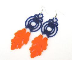 pendientes florentino - Pendientes azul y naranja