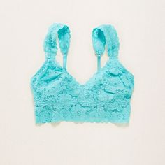 Aerie Lace Bralette ($20) ❤ liked on Polyvore featuring intimates, bras, aqua key, racer back bra, multiway bra, lace bralette bra, racerback bra and bralette bras
