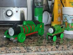 Pinewood Derby car ~ Thomas the Tank Engine - Percy