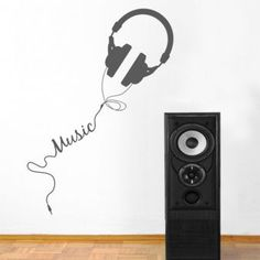 To people that simply love music, this vinyl wall sticker would be a great decoration! wall art decals provide a new and modern way to decorate your home, simply peel and stick to get a stylish and decorative look. Vinyl Wall Stickers, Wall Decals, Wall Vinyl, Music Themed Rooms, Music Bedroom, Music Wall Art, Idee Diy, Bedroom Themes, My New Room