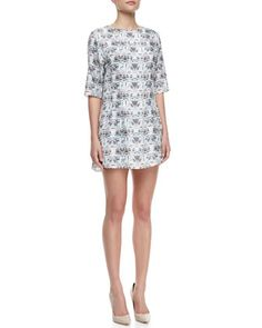 Theyskens' Theory printed dress (more Theyskens' here -- http://chicityfashion.com/theyskens-theory/)