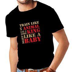 61d6d306a1178d lepni.me T Shirts For Men Train Hard - Fitness Motivational Quotes