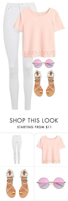 """""""How to wear: outfits for school"""" by gerkly-chic ❤ liked on Polyvore featuring Topshop"""