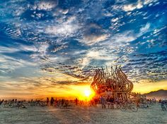 Sunrise at The Temple, Burning Man 2009 (Photo Credit: Michael Holden)