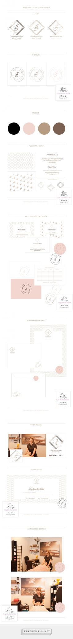 Brand Style Guide for Jenny Tyynelä Flow Creative Designs... - a grouped images picture - Pin Them All
