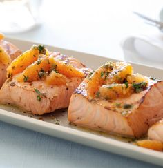 Get the Grilled Salmon with Citrus Salsa Verde Recipe of Giada De Laurentiis, Food Network from Best Recipes. Fish Dishes, Seafood Dishes, Fish And Seafood, Main Dishes, Salmon Dishes, Giada De Laurentiis, Salmon Recipes, Fish Recipes, Seafood Recipes