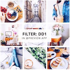 Bright, white Instagram theme for lifestyle bloggers. This is filter DD1 in the White (2) filter pack in Preview App.