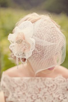 more of a wedding headpiece, but still classic and pretty.