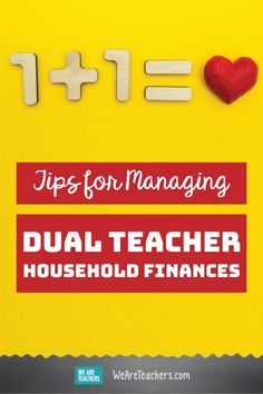 I'm Married to Another Teacher. How Should We Manage Our Finances? Financial Advice for teachers. How to make it work on a teacher's salary, or two teacher salaries. First Year Teachers, New Teachers, Teaching Career, Teaching Resources, Discounts For Teachers, Teacher Salary, Professional Development For Teachers, Financial Literacy, Best Teacher