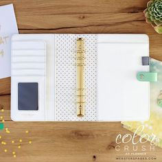 PREORDER A5 Binder Only • Mint Color Crush Webster's Pages • FREE WASHI TAPE