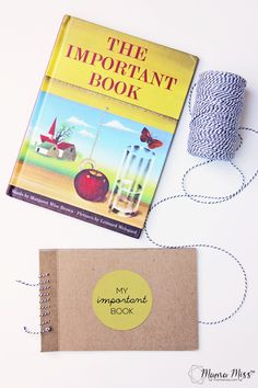 My Important Book - a little keepsake for kids to make, to write about who is important to them and why.  Inspired by The Important Book.  From @mamamissblog