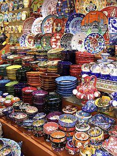 Cerâmica nos mercados - Turquia