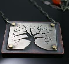 Survivor Tree necklace by AlegraJewelry on Etsy