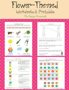 Flower Worksheets: Free Printables