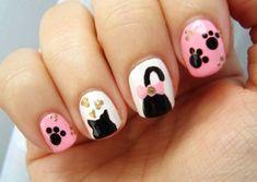 Anime Nails, Nail Art For Kids, Cat Nails, Nail Arts, Manicure, Nail Designs, Nail Polish, Nail Nail, Hair Beauty