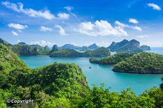 Ang Thong National Marine Park is a pristine archipelago of 42 islands in the Gulf of Thailand with towering limestone mountains, thick jungle, white-sand beaches, fertile mangroves, waterfalls and hidden coves and lakes to explore. Within sight of Koh Samui, Ang Thong park is a protected area