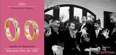 Julio... Felicidades Amigos ♥♥♥ Joyería de Platino & Diamante / Argollas de Matrimonio Oro & Platino / Anillos de Compromiso Platino & Diamante / Churumbelas... #julio #viernes #yonovia #joyería #amor #tbt #compromiso #diadelamigo #amigos #argollas