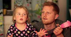 Un papa chante avec sa fille pour lui faire oublier ses feux d'artifice imaginaires - Adelaide n'arrive pas à dormir, des feux d'artifices tonnent dans sa tête. Benjamin son père prend son ukulélé rose et entonne l'air de Tonight You Belong to Me. La vidéo a fait le tour d'Internet...