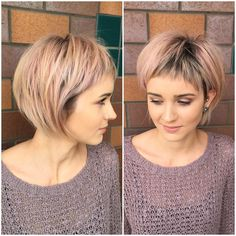 Short hairstyles for fine hair are one of the hairstyles that women often think of, but they don't dare to try them. There are many short and pleasant hairstyles for fine hair. Fine hair is o… Short Hairstyles Fine, Short Shag Hairstyles, Haircuts For Fine Hair, Haircuts With Bangs, Cool Hairstyles, Hairstyle Short, Hairstyles 2016, Bob Haircuts, Straight Haircuts