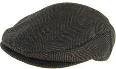 Headchange Made in USA Brown Wool Herringbone Ivy Cap 5 Point Winter Flat  Irish Scally Hat 8ade1c567489