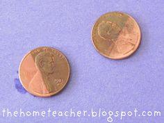 The Home Teacher: Montessori Jar: Cleaning Pennies