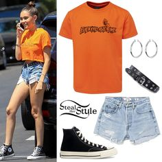 Steal Her Style | Celebrity Fashion Identified | Page 5 Trendy Outfits, Summer Outfits, Fashion Outfits, Fashion Tips, Madison Beer Outfits, Estilo Kylie Jenner, Mode Kpop, Outfits With Converse, Black Ripped Jeans