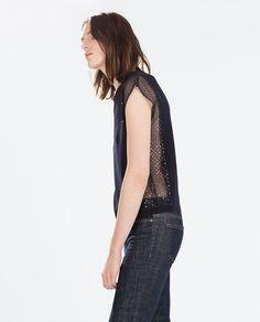 Image 2 de TOP MOTIF MANCHES de Zara