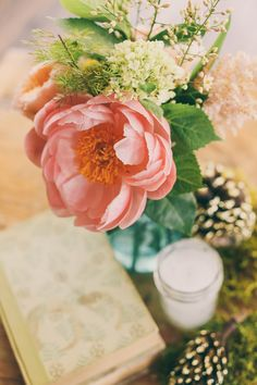 corals + greens // photo by Twin Hearts Photography  // View more: http://ruffledblog.com/handmade-athens-wedding/
