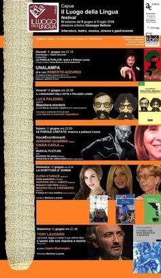Al via 'Capua - Il Luogo della Lingua festival'. Un viaggio nel mondo della cultura e delle arti a cura di Redazione - http://www.vivicasagiove.it/notizie/al-via-capua-luogo-della-lingua-festival-un-viaggio-nel-mondo-della-cultura-delle-arti/